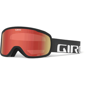 Giro Cruz Lunettes De Protection, black wordmark/amber scarlet